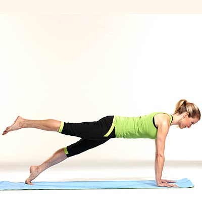 one legged plank