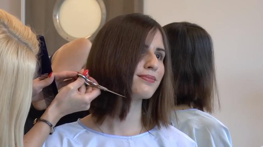 Having a Haircut